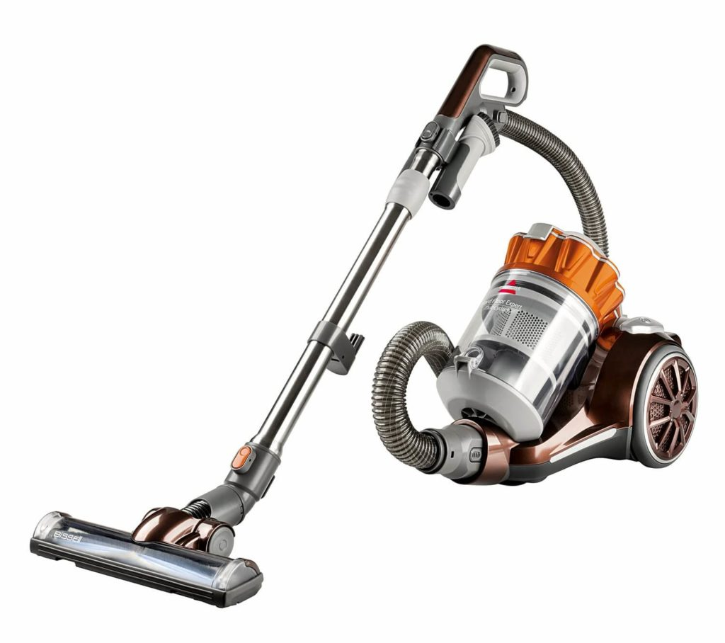 Best Canister Vacuum Cleaners-Best For Hard Wood floor: Bissell hard floor expert bagless canister vacuum